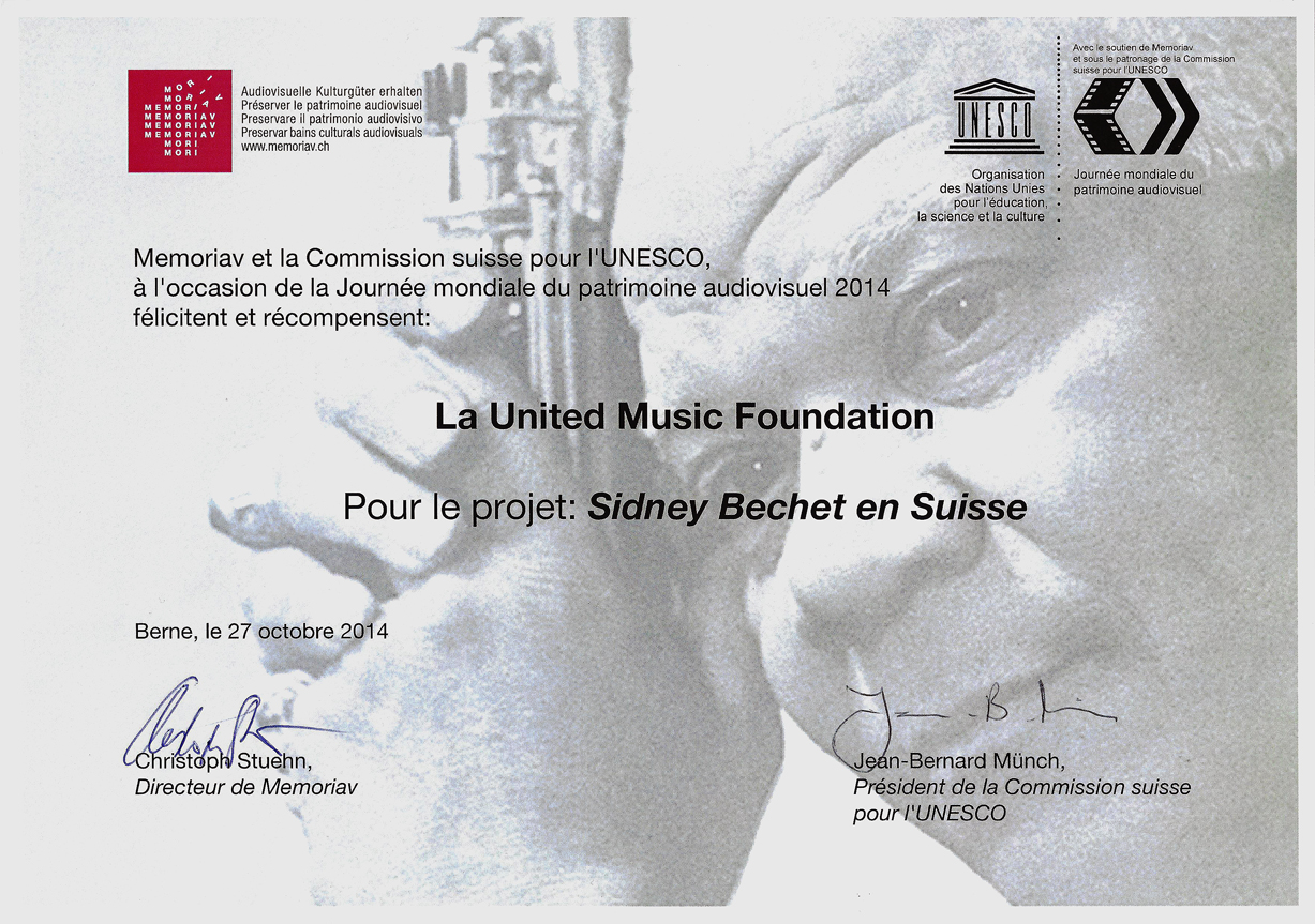 Memoriav - Swiss commission for UNESCO Award 2014